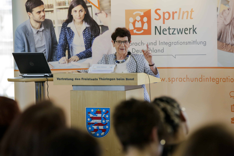 Prof. Dr. Rita Süssmuth spricht auf SprInt Bundesfachtagung 2018
